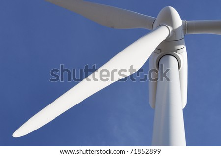 detail top of a windmill for electric power production - stock photo