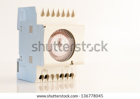 Detail view of a timer for electric current - stock photo