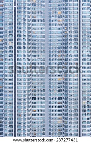 Detail view of residential buiilding - stock photo