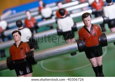 Detail View of Table Soccer - stock photo