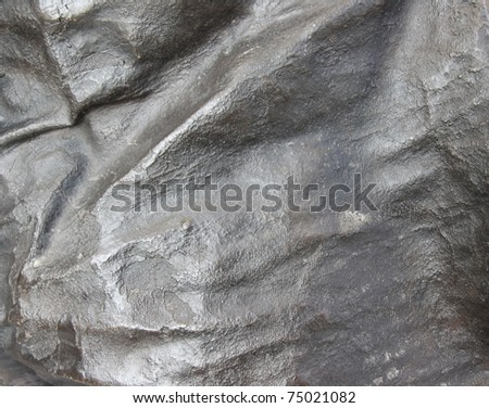 Detail view of wrapped bronze metal texture background - stock photo
