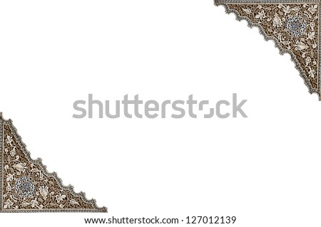 Detailed background of the intricate patterns on a wall of the  Palace Alhambra, Granada, Spain - stock photo