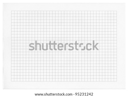 Detailed blank math paper pattern - stock photo