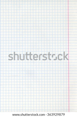 Detailed blank math paper sheet