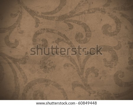 detailed brown arabic  style decorative grungy texture - stock photo