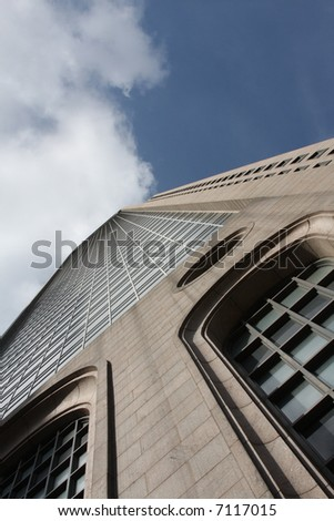 Detailed building climbing to the sky