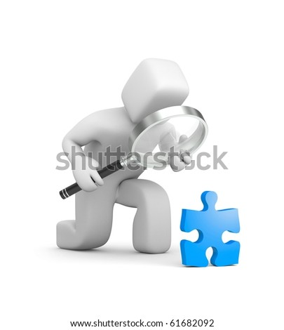 Detailed consideration - stock photo