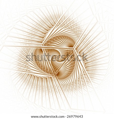 Detailed copper and gold abstract design on white background