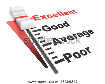 detailed 3d illustration of a customer satisfaction regulator