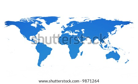 Earth Map Flat Stock Images RoyaltyFree Images Vectors - Flat map of world