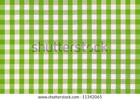 Detailed green picnic cloth - stock photo