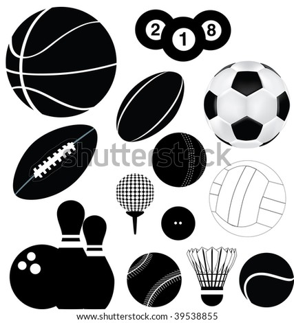 detailed illustration of a series of world wide sports - stock photo