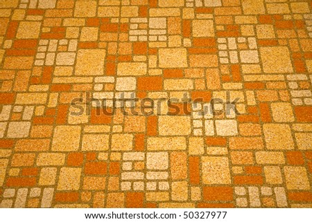 Detailed image of a linoleum tile background from the 1970s. - stock photo