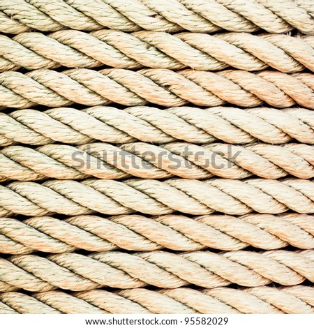 Detailed image of tight rope as a background - stock photo
