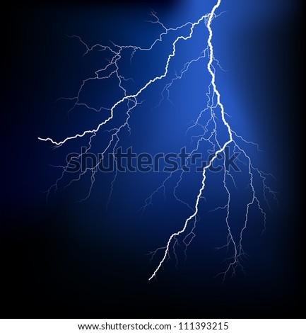 Detailed lightning - stock photo