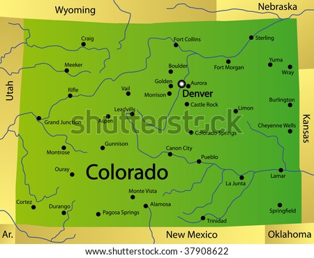 Detailed Map of Colorado State