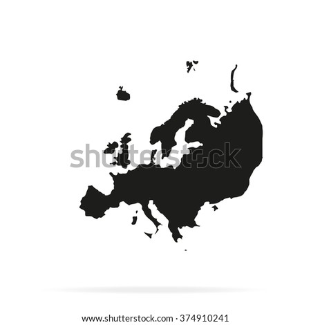 Detailed map europe flat icon stock illustration 374910241 detailed map of europe flat icon gumiabroncs Image collections