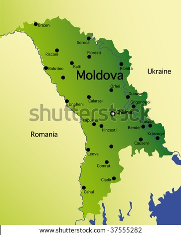 detailed  map of moldova