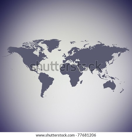 detailed map of the world - stock photo