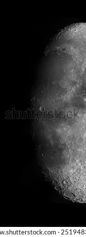 Detailed picture of the Lunar Surface