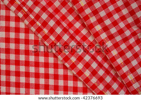 Detailed red picnic cloth for design - stock photo