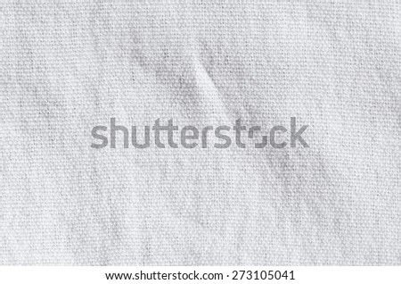 detailed texture of a white fabric - stock photo