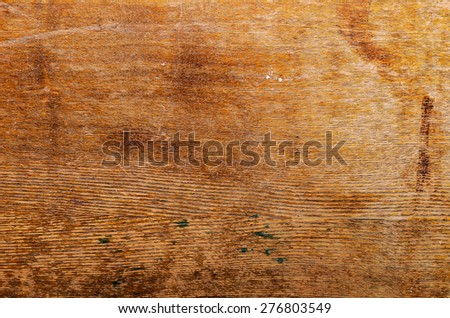 detailed texture of a worn-out wooden surface - stock photo