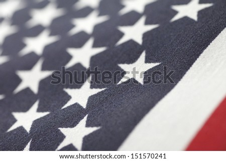 detailed view of a USA flag - stock photo