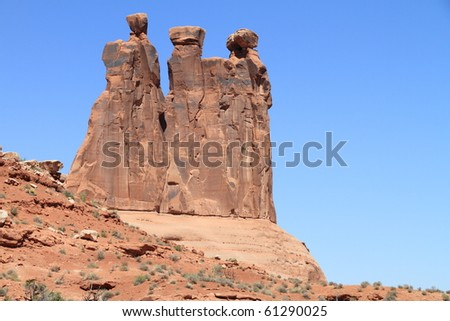 Detailed View of rocks at Arches National Park - stock photo