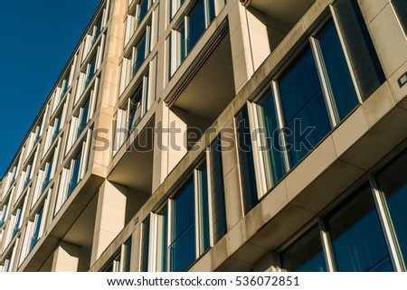 detailed view of window facade