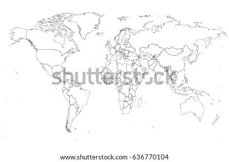 Detailed world map high resolution stock illustration 636770104 detailed world map in high resolution gumiabroncs Image collections
