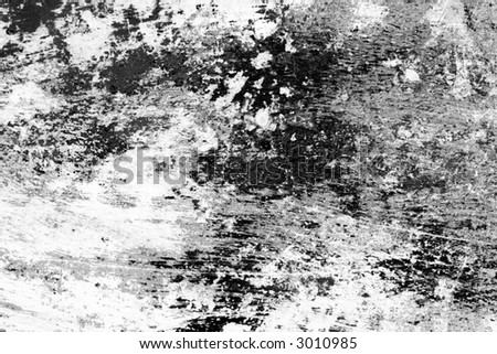 Detailed worn paint. Grayscale for alpha channel or texture overlay. - stock photo