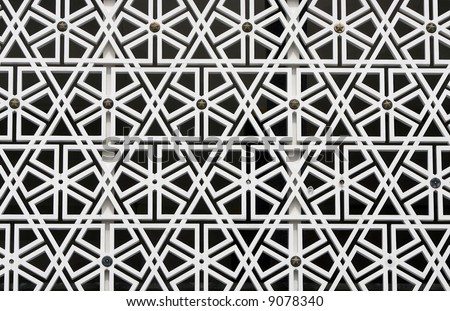 Details at National Mosque, Malaysia - stock photo