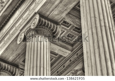 details from Academy of Athens ,Greece - stock photo