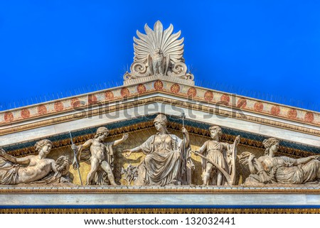 Details from the Academy of Athens,Greece - stock photo