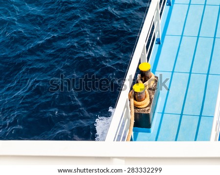 Details from the ferry boat on the sea - stock photo