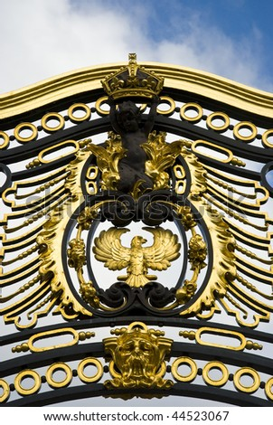 Details from the golden gate at Buckingham palace - stock photo