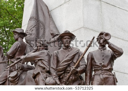 Details from the Virginia memorial statue at the Gettysburg battlefield - stock photo