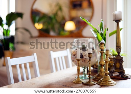 Details of a beautiful living room - stock photo