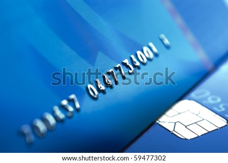 Details of a credit card numbers - stock photo
