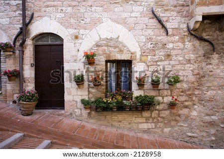 Details of a home in Assisi Italy