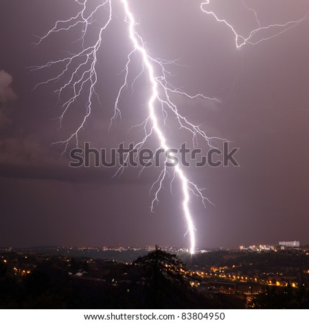 details of a lightning - stock photo