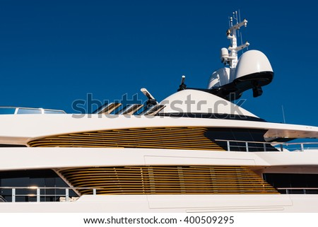 details of a luxury yacht - stock photo