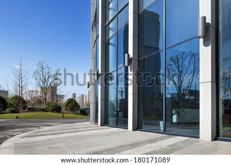 details of a modern office building - stock photo