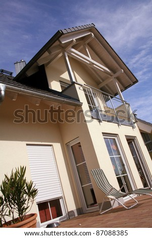 Details of a new european single family house - stock photo