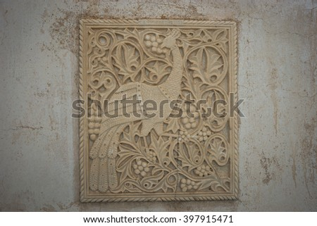 Details of a small church at  the side of the road near Isternia at Tinos in Greece - stock photo