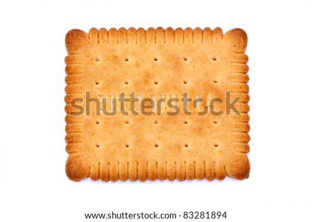 Details of a small cracker called a French Petit Beurre