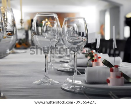 Details of a wedding table with cutlery