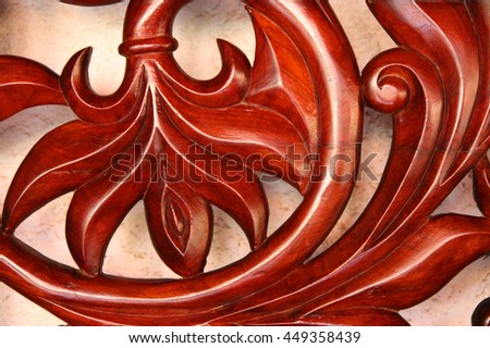 Details of a wooden panel - stock photo