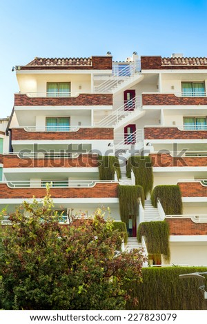 Details of apartments building. - stock photo
